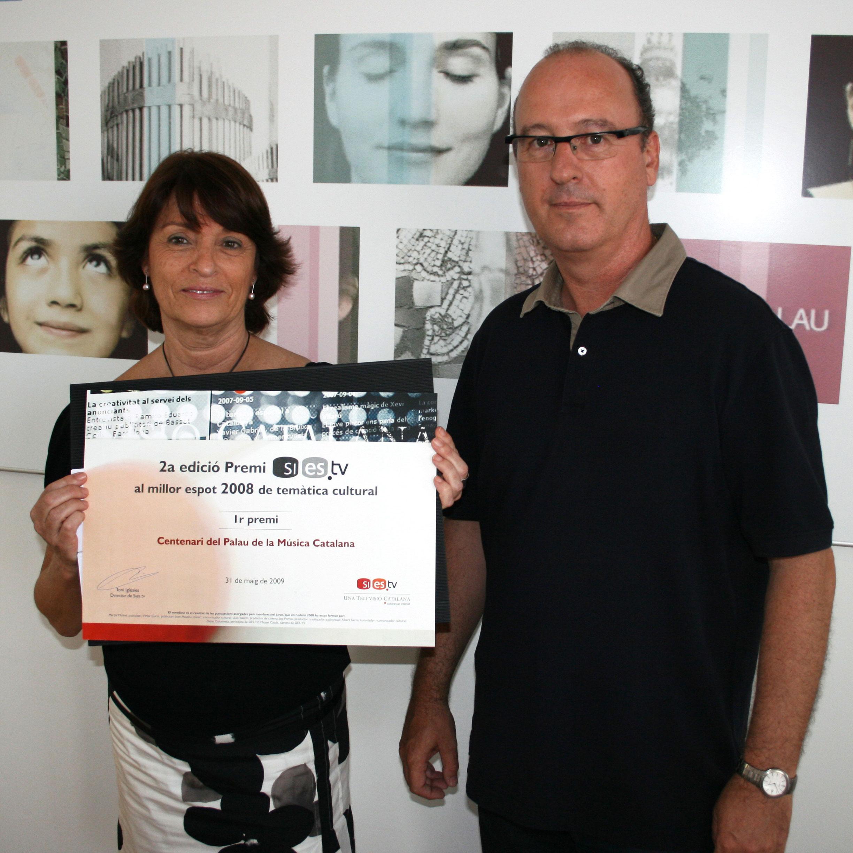 Sies.tv lliura el premi al millor espot cultural al Palau de la Música Catalana
