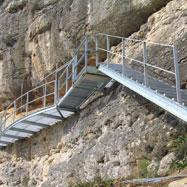 Acabat el nou accés a l?abric1 del conjunt Rupestre de l?Ermita a Ulldecona