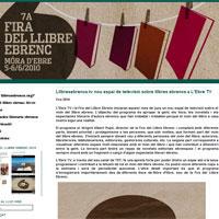 Llibresebrencs.tv, nou espai de televisió a L'Ebre TV