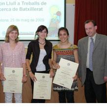 La URL concedeix els Premis Ramon Llull a Treballs de Recerca de Batxillerat 2009